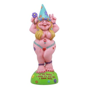 Ebros Summer Of Love Flower Child Hippie Lady Gnome Statue By Ebros Gift