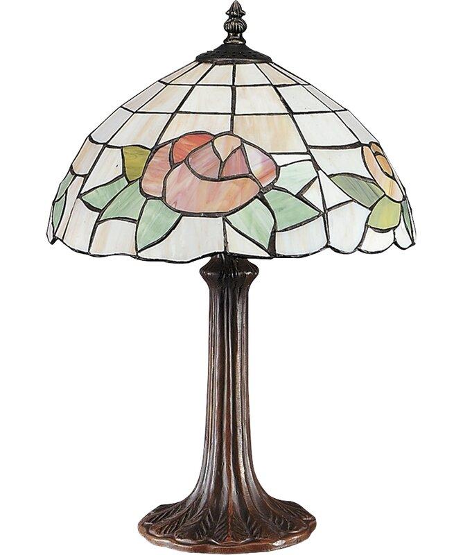 """AA Importing Floral 17"""" Table Lamp"""