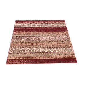 Doreen Decorative Modern Contemporary Southwestern Rectangle Red/Beige Area Rug
