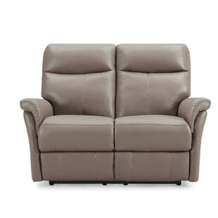 Charlene Genuine Leather 2 Seater Reclining Sofa By Ebern Designs