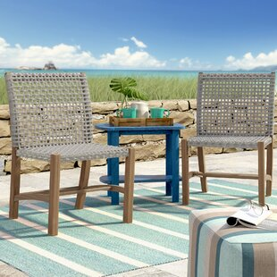 Tibbitts Teak Patio Dining Chair (Set of 2)