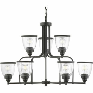 Chaya 9-Light Shaded Chandelier by Breakwater Bay