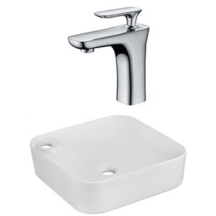 Shopping for Ceramic Square Vessel Bathroom Sink with Faucet By American Imaginations