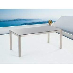Chetna Stainless Steel Dining Table By Sol 72 Outdoor