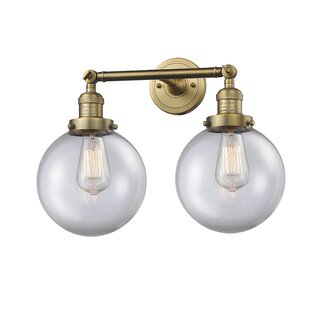 Jackeline 2-Light Vanity Light by Breakwater Bay
