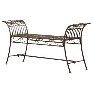 Xandra Iron Garden Bench by Lark Manor