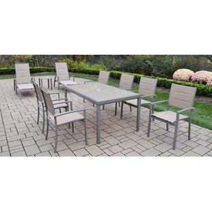 Oakland Living Padded Sling 10 Piece Dining Set