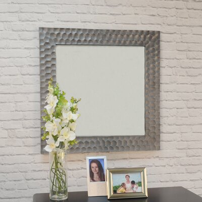 Borendy square hammered frame accent mirror