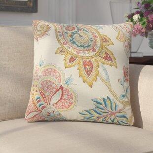 Siv Paisley Linen Throw Pillow (Set of 2)