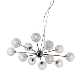 Brayden Studio Nadia Glitter 12-Light Chandelier