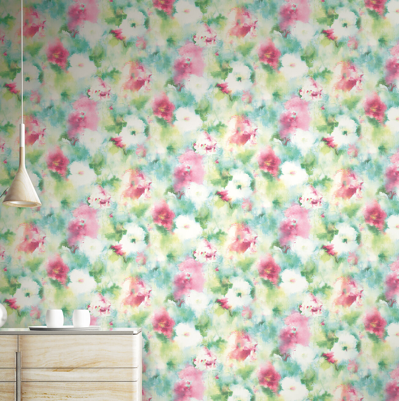Wrought Studio Lyndsey Abstract Floral 33 L X 20 5 W Wallpaper