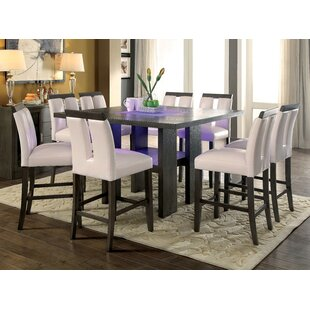 Travis 9 Piece Dining Set Latitude Run