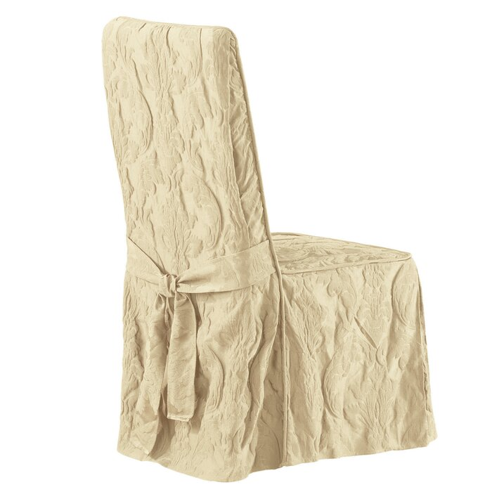 Peachy Matelasse Damask Box Cushion Dining Chair Slipcover Uwap Interior Chair Design Uwaporg