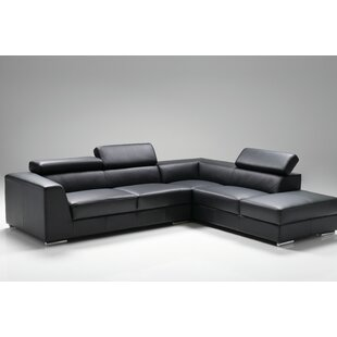 Cesca Right Side Facing Chaise Sectional by Orren Ellis Best Design