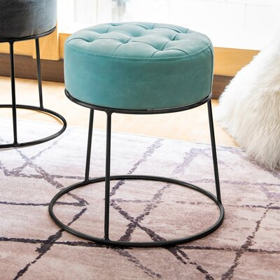 Ivy Bronx Steadham Stackable Footstool Tufted Ottoman
