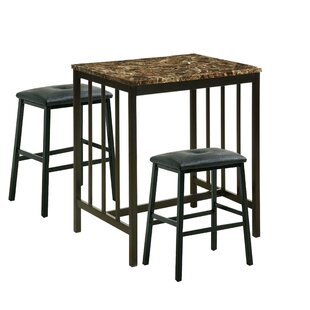 Parton 3 Piece Pub Table Set (Set of 3)