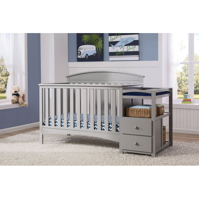 Charmant Abby 4 In 1 Convertible Crib And Changer By Delta