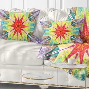 Abstract Beautiful Colorful Stained Glass Lumbar Pillow