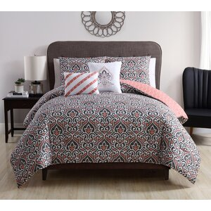 Sheffield 5 Piece Reversible Comforter Set