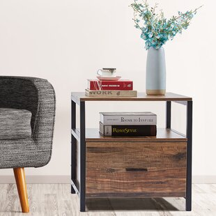 Ludie End Table with Storage by Foundry Select