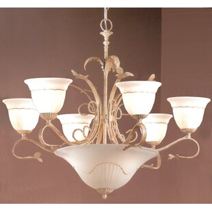 Classic Lighting Treviso 9-Light Shaded Chandelier