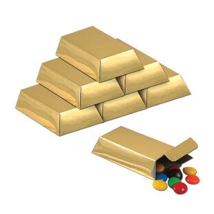 Decorative Foil Gold Bar Favor Set