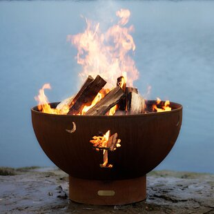 Tropical Moon Bowl Steel Fire Pit By Fire Pit Art