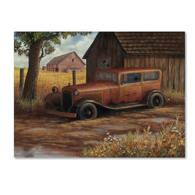 Trademark Art The Old Ford Graphic Art Print On Wrapped Canvas Wayfair
