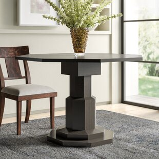 Octagon Solid Wood Dining Table Noir