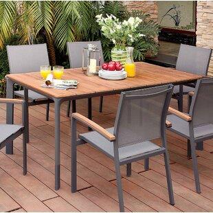Lobsien Metal Dining Table by Latitude Run