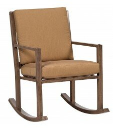 Woodlands Small Rocking Chair with Cushions by Woodard