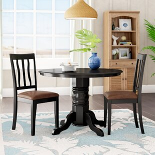 Langwater Traditional 3 Piece Dining Set Beachcrest Home