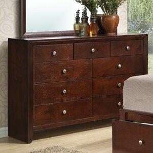 Alisa 9 Drawer Dresser by A&J Homes Studio