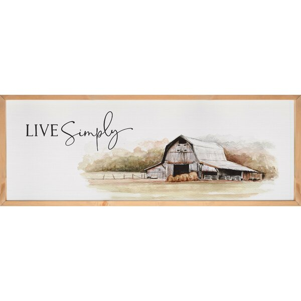 Gracie Oaks Live Simply Framed Textured Picture Frame Print On Wood Wayfair