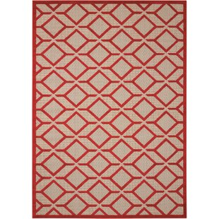 Taschen Red Indoor/Outdoor Area Rug by Langley Street New
