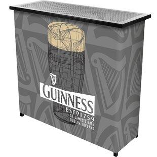 Guinness Line Art Pint Portable Home Bar By Trademark Global