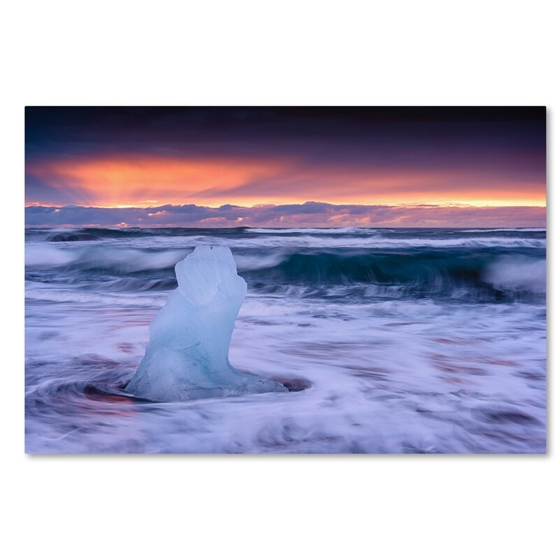 Trademark Art Ice Sculpture Photographic Print On Wrapped Canvas Wayfair