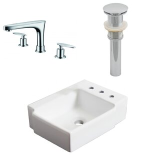 Affordable Ceramic Rectangular Bathroom Sink with Faucet By American Imaginations