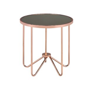 Hunsaker Smoke Glass End Table by Mercer41
