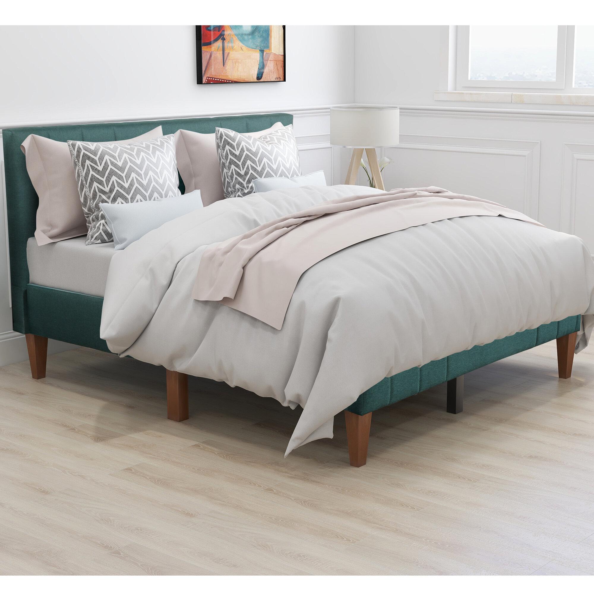 Latitude Run Aquila Queen Upholstered Platform Bed Wayfair