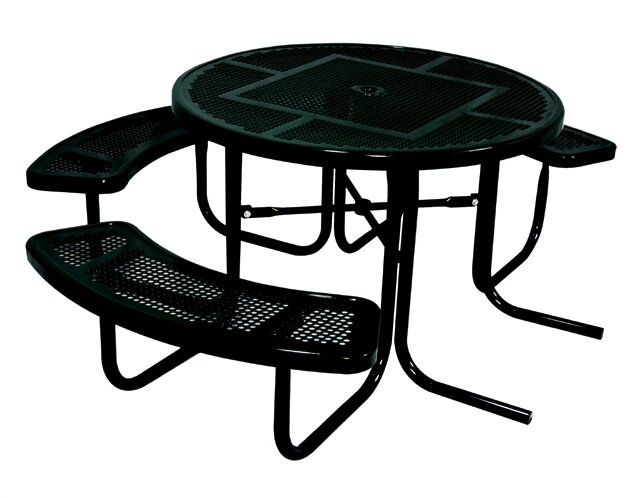 3 Seat Ada Round Picnic Table With Perforated Pattern