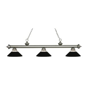 Billington 3-Light Pool Table Lights Pendant by Fleur De Lis Living