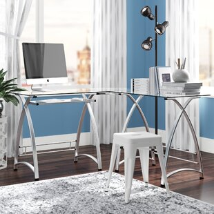 Cloer L-Shaped Metal Computer Desk By Latitude Run