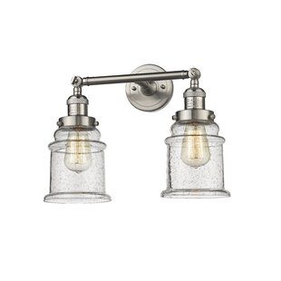 Compare prices Greeley 2-Light Vanity Light By Laurel Foundry Modern Farmhouse