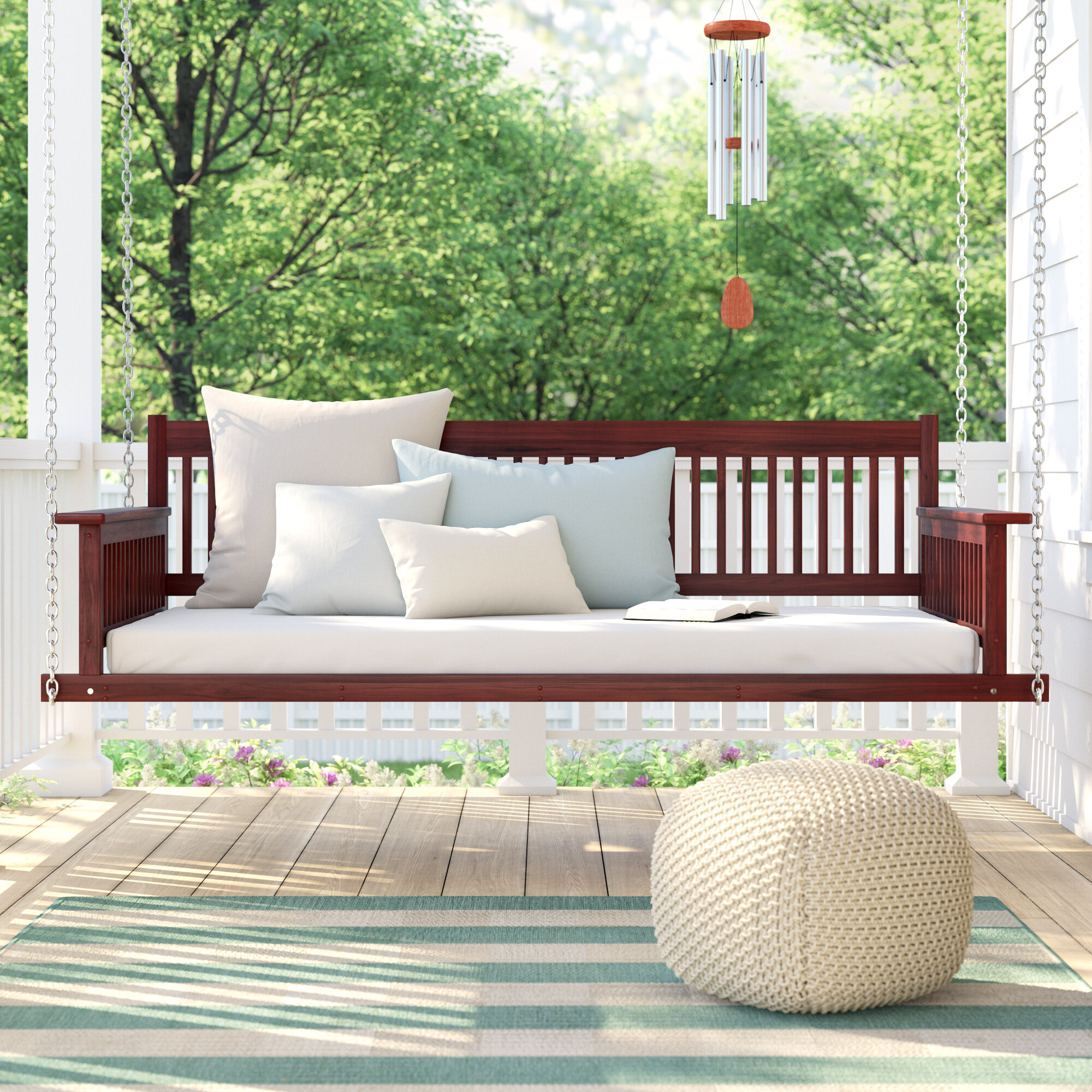 Picture of: Rosecliff Heights Marisela Day Bed Porch Swing Reviews