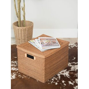 Top Reviews Cresthaven Rattan Box ByHighland Dunes