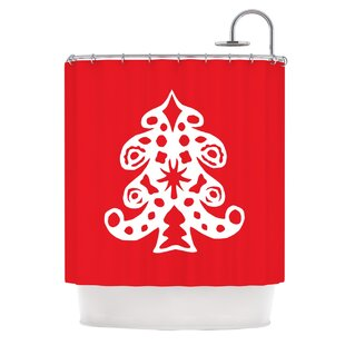 Best Noble Pine by Miranda Mol Holiday Shower Curtain ByEast Urban Home
