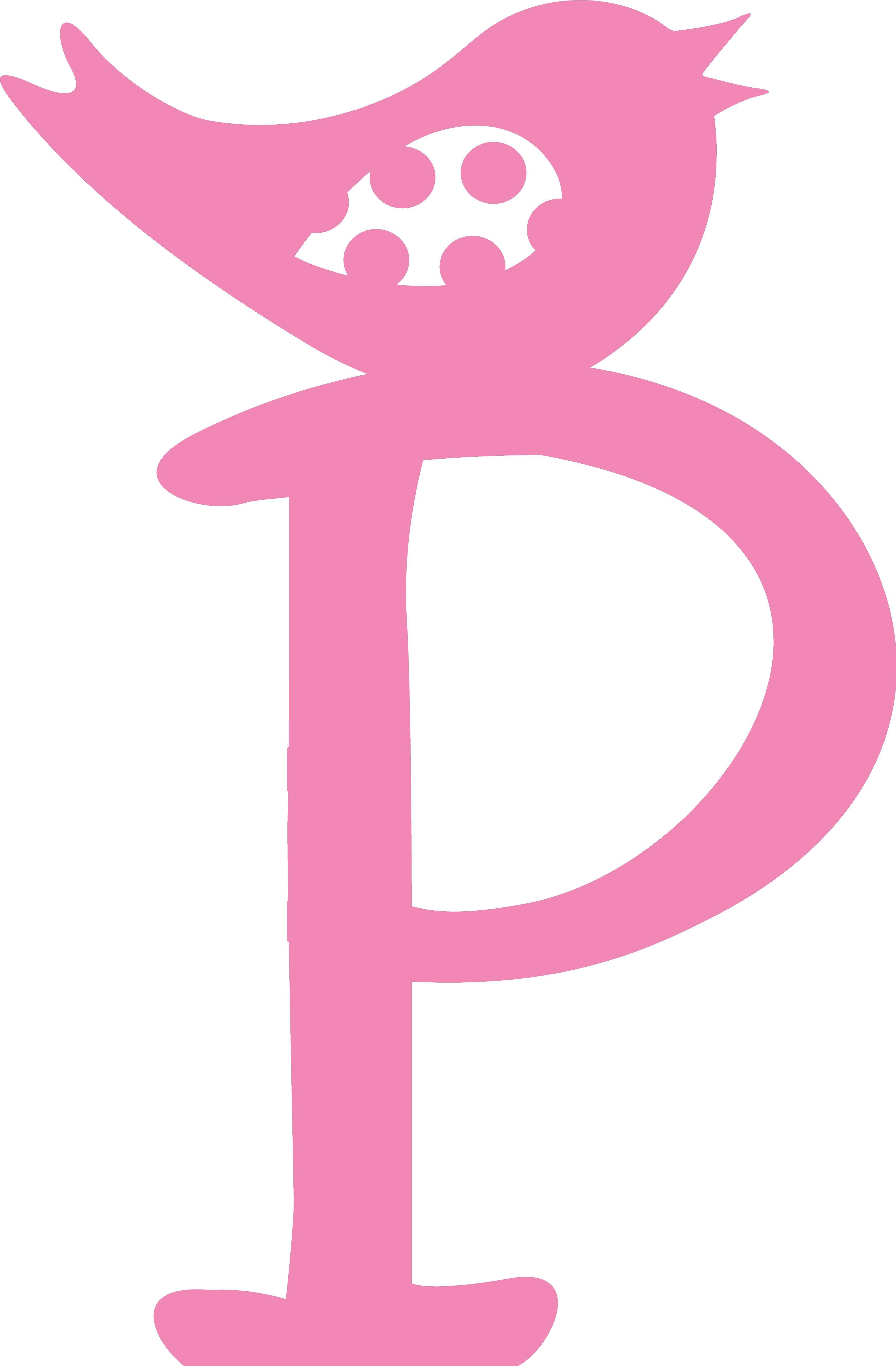 Enchantingly Elegant Letter P With Bird Wall Decal Wayfair