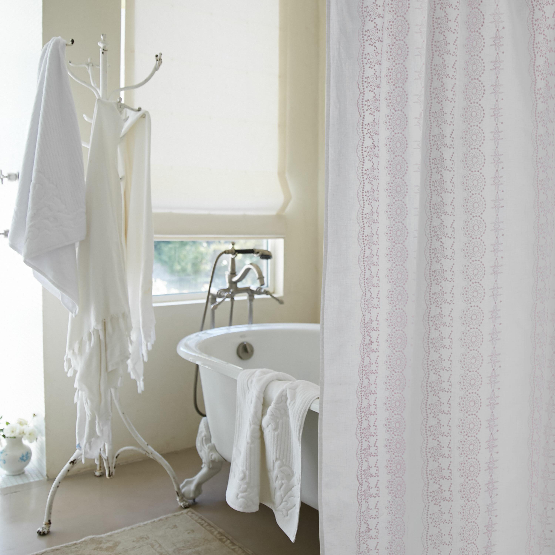 Rachel Ashwell Boho Embroidered Linen Single Shower Curtain Perigold