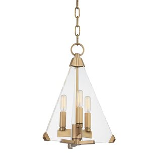 Diondre 3-Light Geometric Chandelier by Willa Arlo Interiors